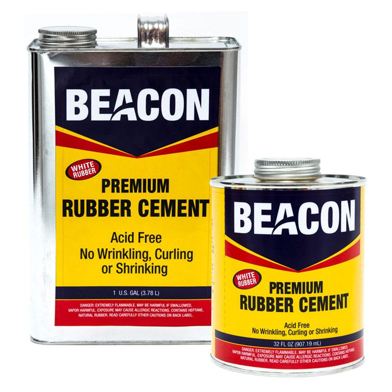 "Beacon Premium ""Acid Free"" White Rubber Cement"